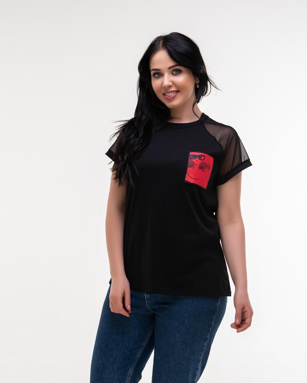 Женская модная футболка - реглан  НА620