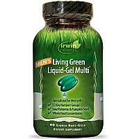 Мужские мультивитамины Irwin Naturals, Living Green Liquid Multi, 90 капсул