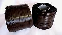 """Штучний ротанг для виготовлення садових меблів """"АУРА"""" 10мм*1,4мм темно-коричневий бухта 5 кг"""