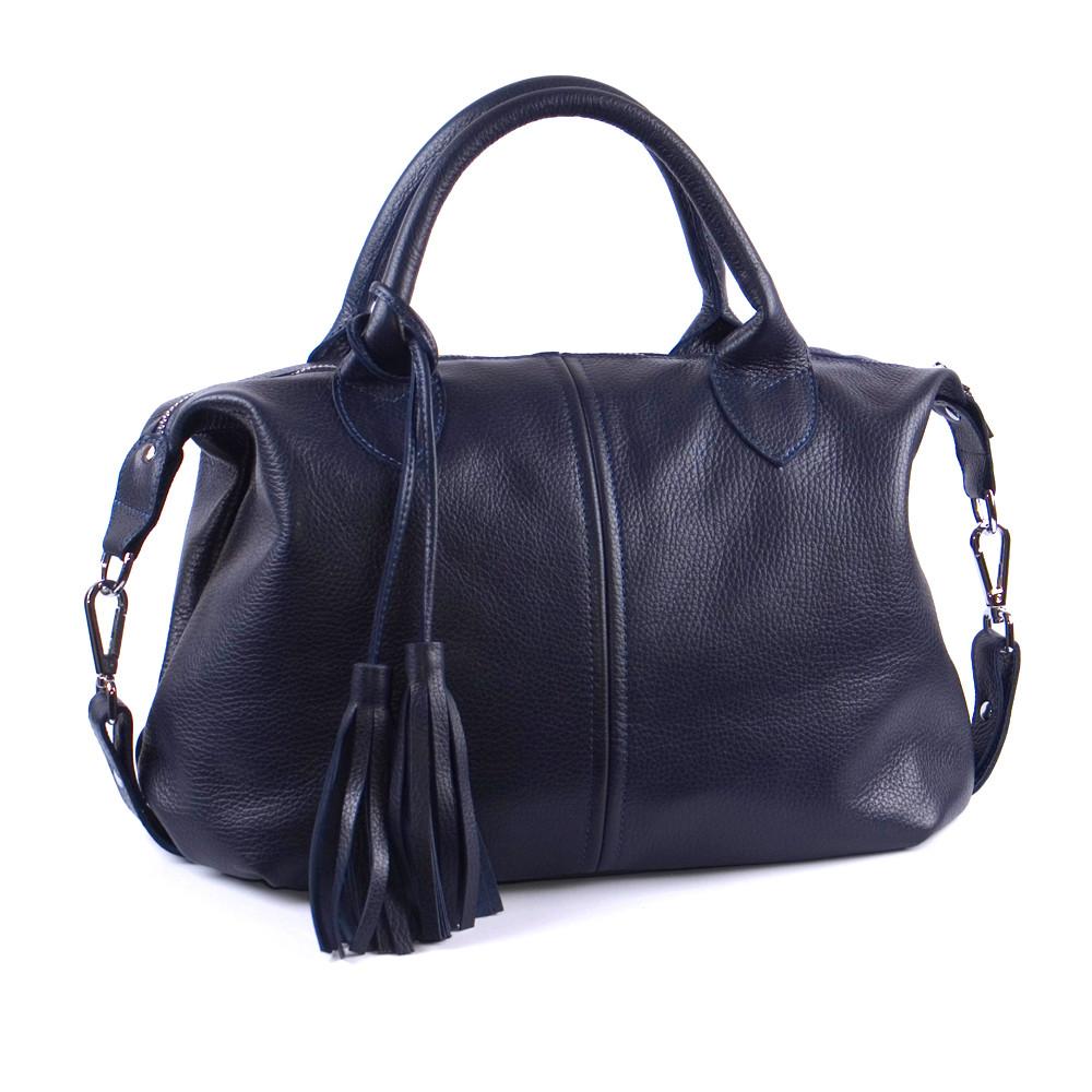 Женская кожаная сумка 20 темно-синий флотар 01200103