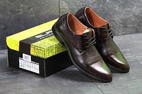 Мужские туфли коричневые Slat 7007
