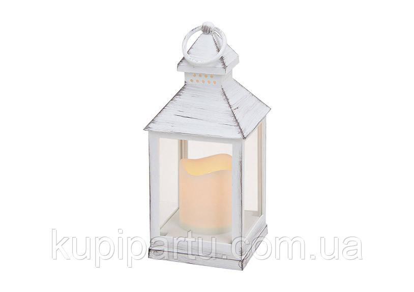 Фонарь ночник со светодиодной лампой полистоун 10X10X24см 10014726