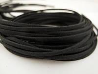 Замшевий шнур 1 м чорний 1665