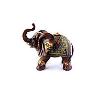 Фигурка слоника хобот к верху 20 см H2624-3T