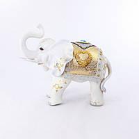 Фигура слона с сердечком, хобот к верху 35см H2449-4N
