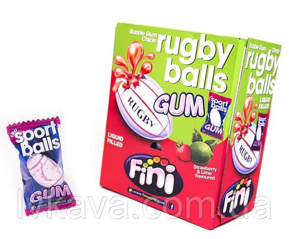 Жевательная резинка Rugby balls Gum FINI , 5  гр х 200 шт, фото 2