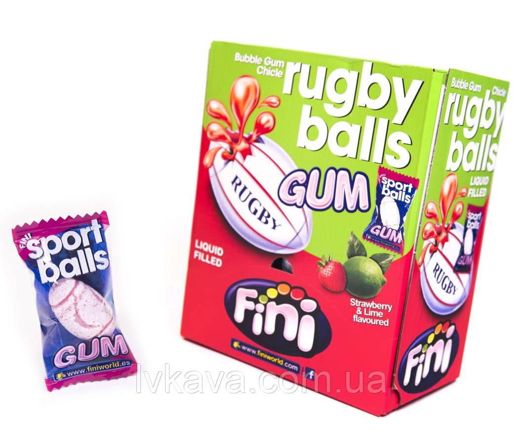 Жевательная резинка Rugby balls Gum FINI , 5  гр х 200 шт