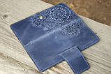 Кошелёк Цветок синий 9.5*19см Гранд Презент 06-11С, фото 4