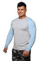 Реглан Long Sleeve BERSERK grey/light blue (размеры в ассортименте), фото 1