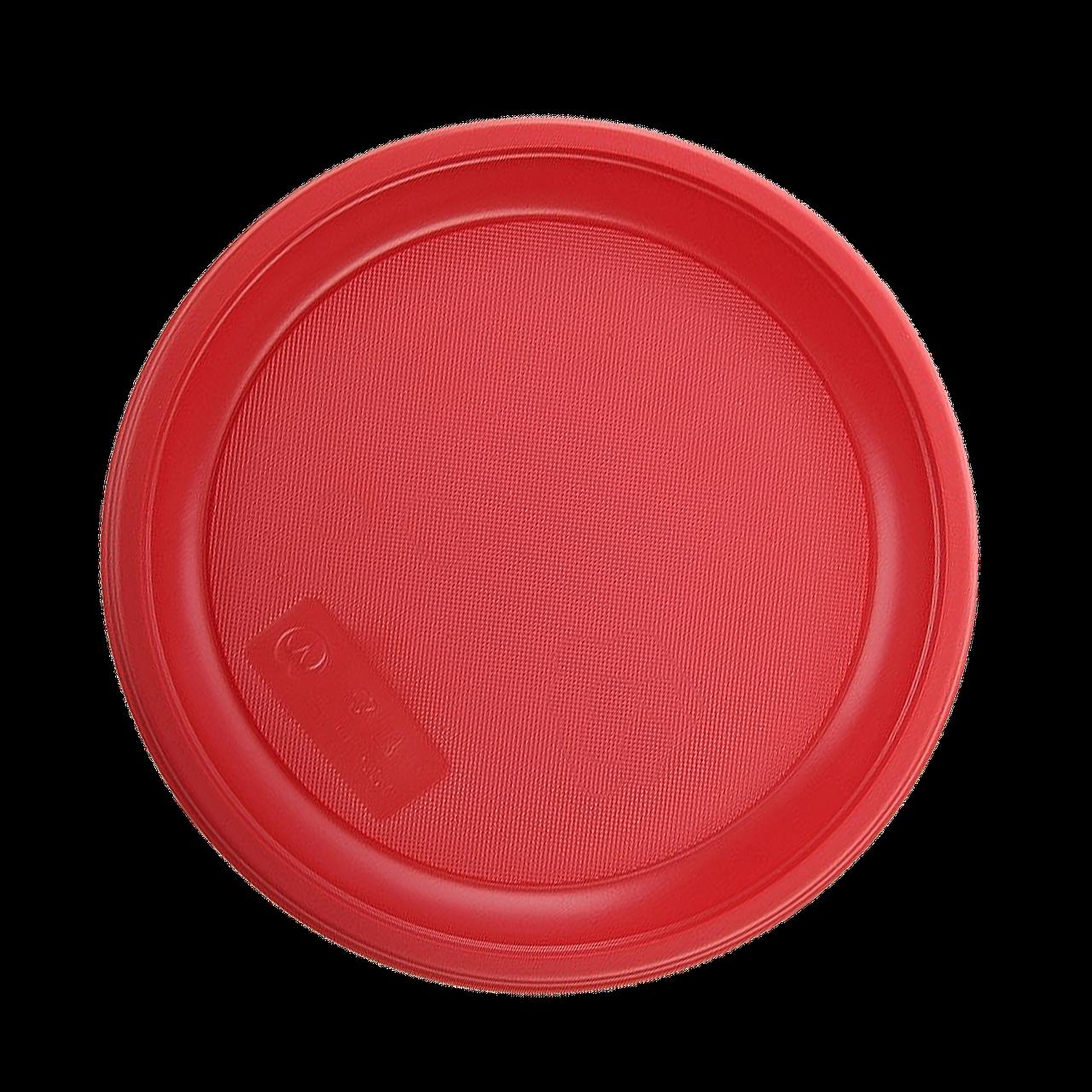 Тарілка пластикова 16см 100шт Червона