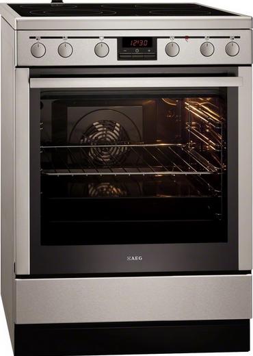 Электрическая плита AEG 4705 PVS-MN ( 60 см, электрическая духовка, нержавеющая сталь )