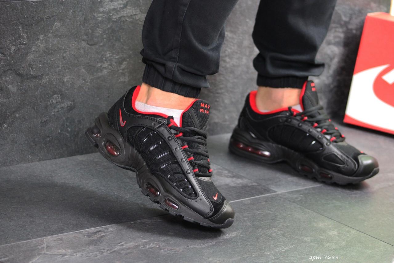 Мужские кроссовки Nike Air Max (черно-красные)