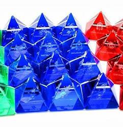 """Пирамиды хрустальные """"Гороскоп"""" (н-р 12 шт.)(4 см) ( 18285)"""