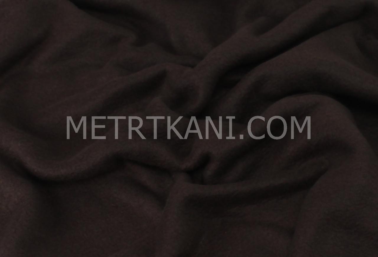 Флис однотонный коричневый цвета №-ф18