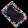 Тарелка паперова прямокутна  ХТ 100шт 15*22см (10/1000) Кольорова, фото 4