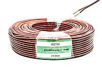 VECTOR 2х16/0,2мм (2*0,5мм2) черн/красн 100м