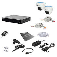 Комплект видеонаблюдения на 2 камеры Tecsar AHD 2IN 5MEGA