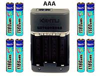 AAA мизинчиковый KENTLI литий-ионный аккумулятор 1180mWh 1,5В + зарядное устройство 8 шт