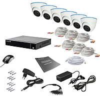 Комплект видеонаблюдения на 6 камер Tecsar AHD 6IN 5MEGA, фото 1