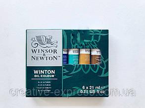 Набір олійних фарб 6*21мл,  WINSOR & NEWTON