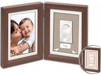 Набор Baby Art Print Frame brown & taupe/beige (фоторамка + отпечаток ножки)