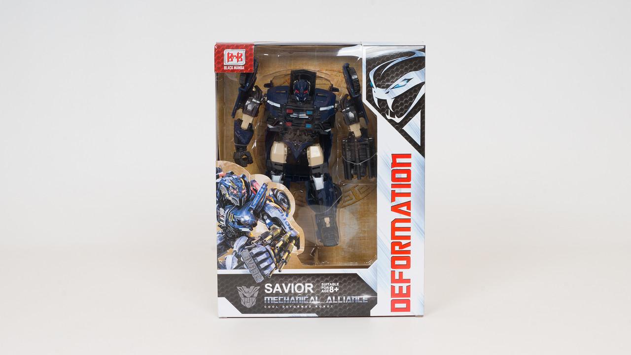 Трансформер-полицейский. Робот трансформируется в машину