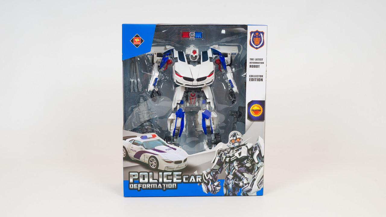 Трансформер - робот трансформируется в полицейскую машинку