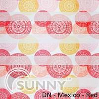 Рулонные шторы для окон День Ночь в закрытой системе Sunny с П-образными направляющими, ткань DN-Mexico