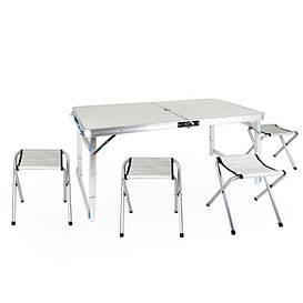 Стол для пикника усиленный раскладной с 4 стульями Easy Camping (белый)