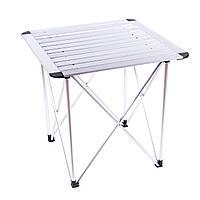 Компактный складной стол Sanja SJ-C02-1 для пикника из алюминия с чехлом (серый)
