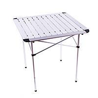 Компактный складной стол Sanja SJ-C02-2 для пикника из алюминия с чехлом (серый)