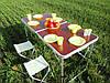 Раскладной стол для пикника с 4 стульями FT-2107 (коричневый), фото 3