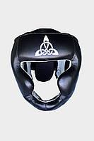 Шлем тренировочный BERSERK SCANDI-FIGHT (кожа) black/white (размеры в ассортименте)