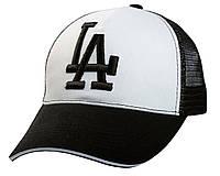 Бейсболка LA с вышивкой (коттон/сетка), фото 1