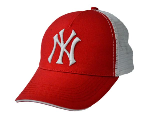 Бейсболка NY вышивка + сетка