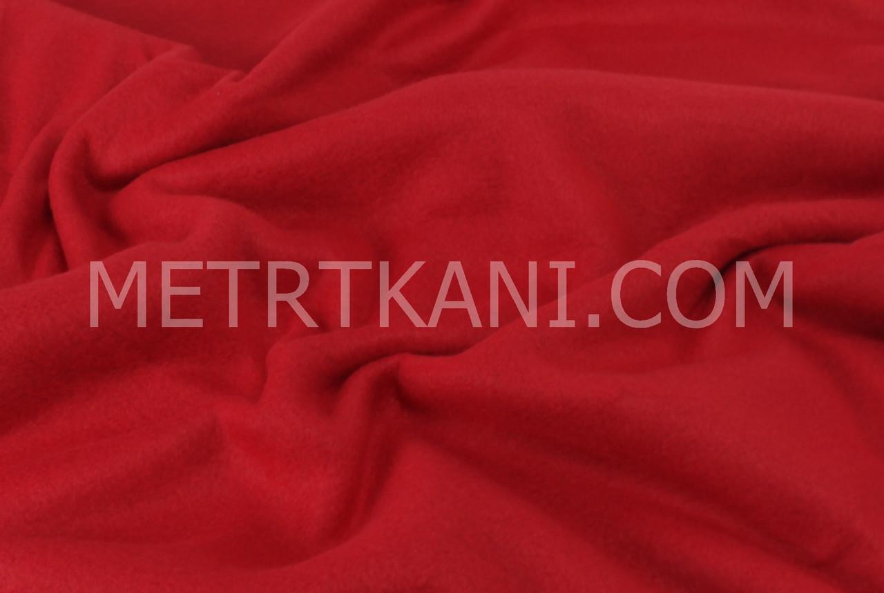 Флис однотонный цвет красный №-ф4