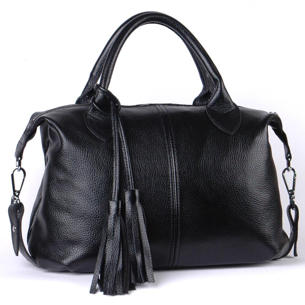 Женская кожаная сумочка 20 черный флотар 01200101