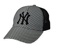 Бейсболка NY с вышивкой (соты/сетка), фото 1