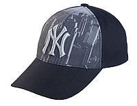 Бейсболка NY с вышивкой и принтом