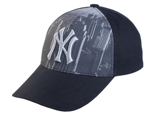 Бейсболка NY вышивка + принт