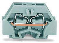 260-301 WAGO Клемма  2-х проводная с монтажным фланцем, пружинный зажим CAGE CLAMP