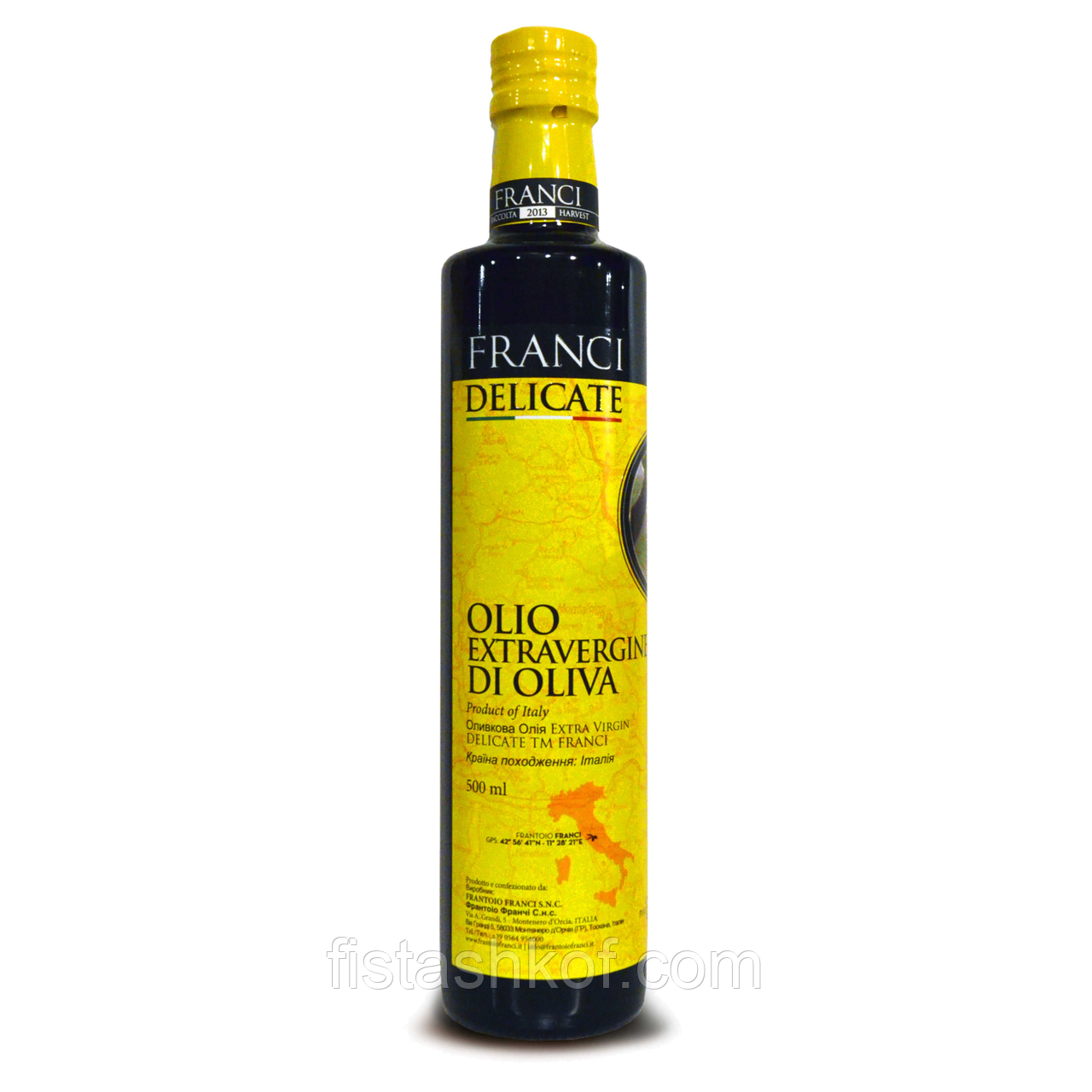 Оливковое масло FRANCI EXTRA VIRGIN DELICATE 500мл.
