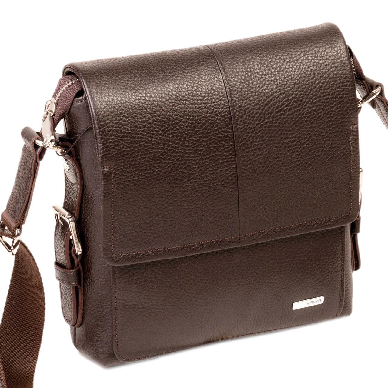Мужская сумка Karya 0520-39 кожаная c плечевым ремнем
