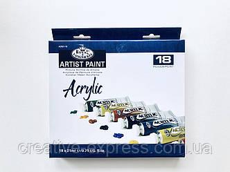 Набір акрилових фарб Royal & Langnickel 18кол.