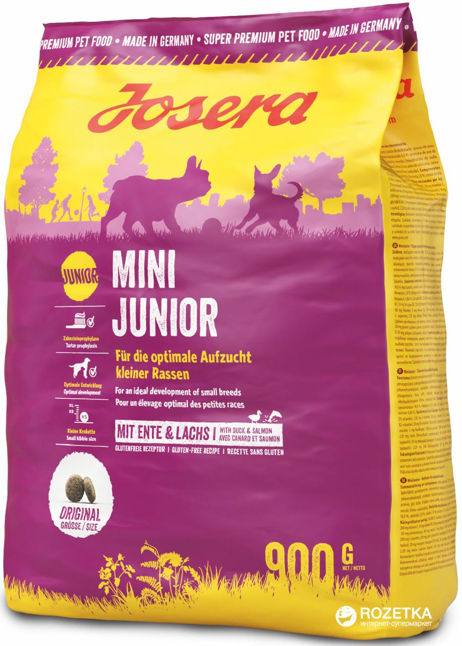 Josera Mini Junior Сухой корм для щенков мелких пород, 900 гр
