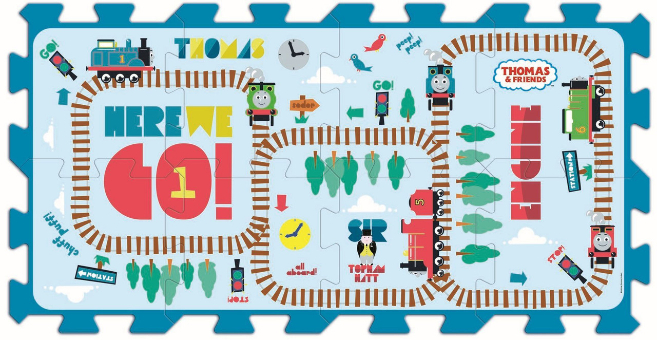 Коврик пазл, 8 элементов Томас и его друзья, Trefl 60466