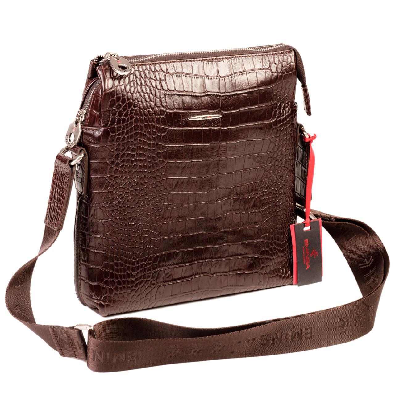 fd259c2b6211 Мужская сумка Eminsa 6142-4-3 кожаная коричневая - FainaModa магазин  кожаных изделий в