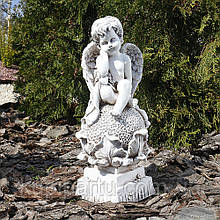 Ангел на цветке 37 см Гранд Презент СП504-3 беж