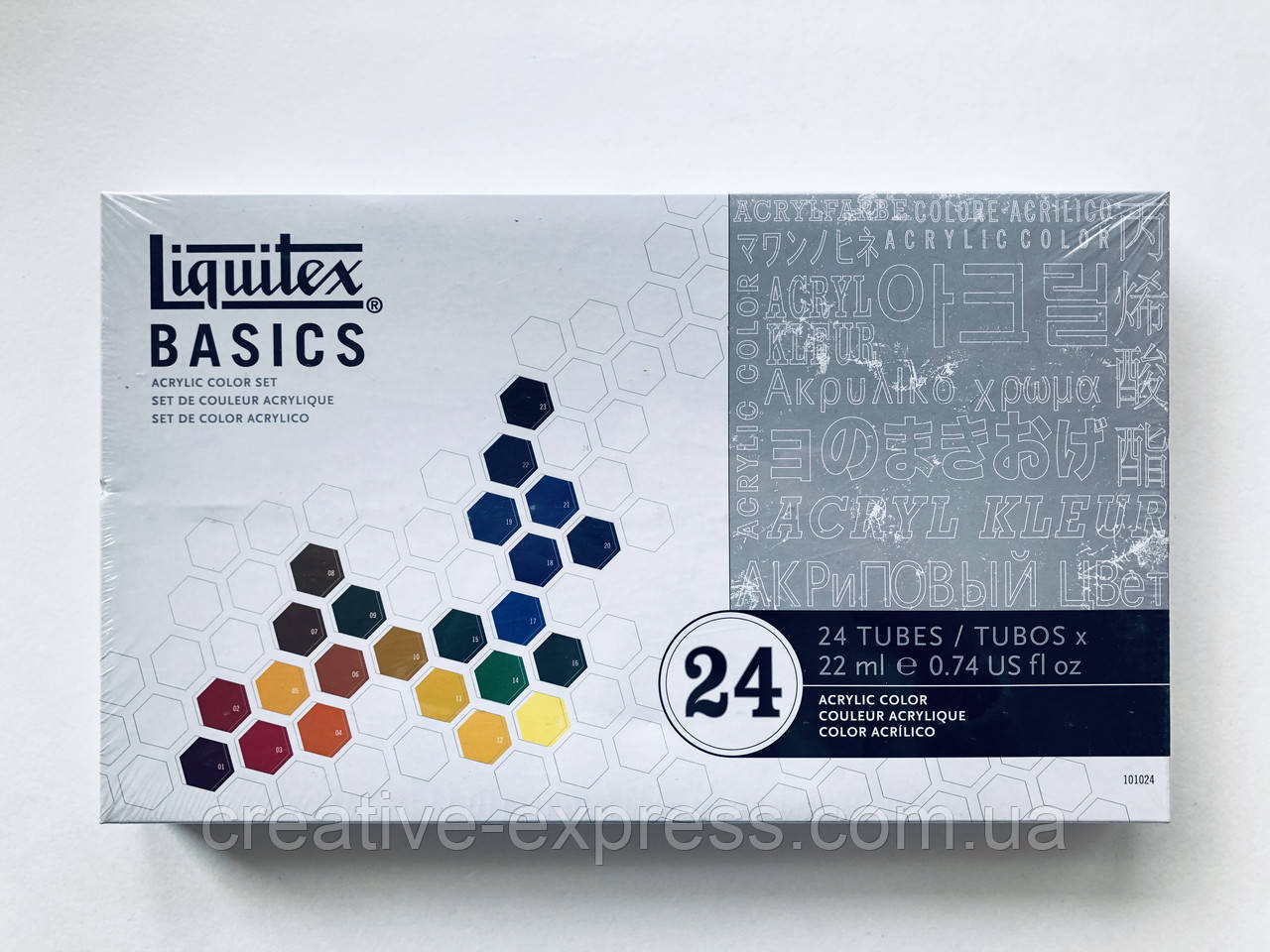 Набір акрилових фарб BASICS SET 24X22ML