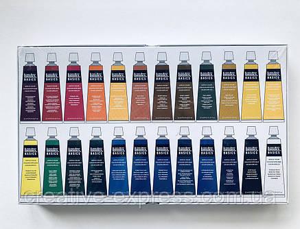 Набір акрилових фарб BASICS SET 24X22ML, фото 2